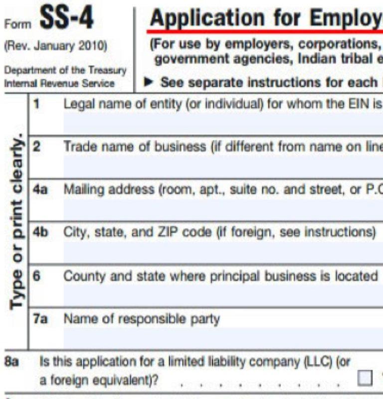 ein application